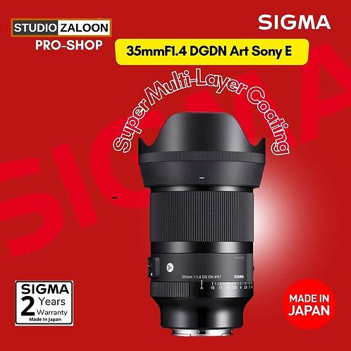 Sigma 35mm f1.4 DG DN  Art Lens for Sony E