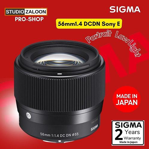 Sigma 56mm f/1.4 DC DN Contemporary Lens for Sony E+CASHBACK