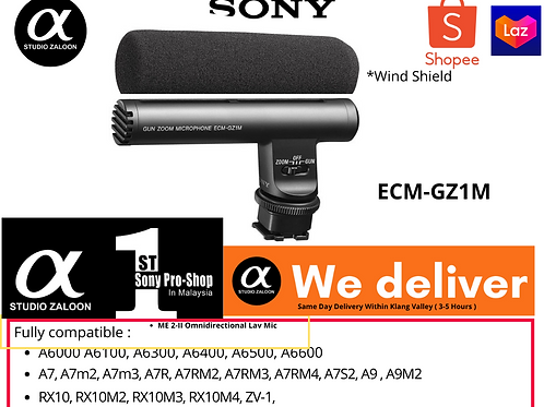 Sony ECM-GZ1M Zoom Microphone for Cameras
