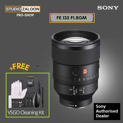 Sony FE 135mm f/1.8 GM With VSGO CLEANING KIT