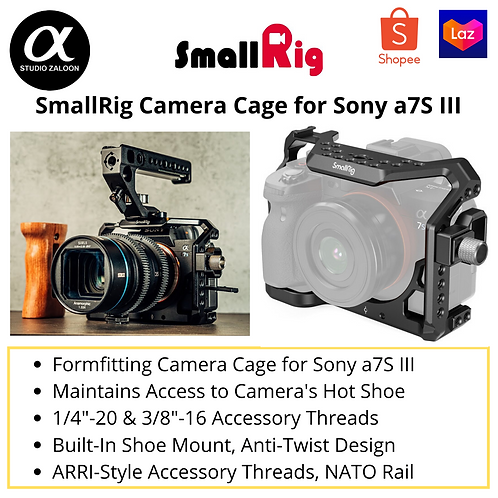 SmallRig Camera Cage and HDMI Cable Clamp for Sony Alpha 7S III A7S3 3007
