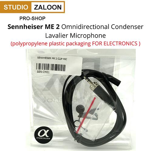 Sennheiser ME 2 Clip Mic (polypropylene plastic packaging FOR ELECTRONICS )
