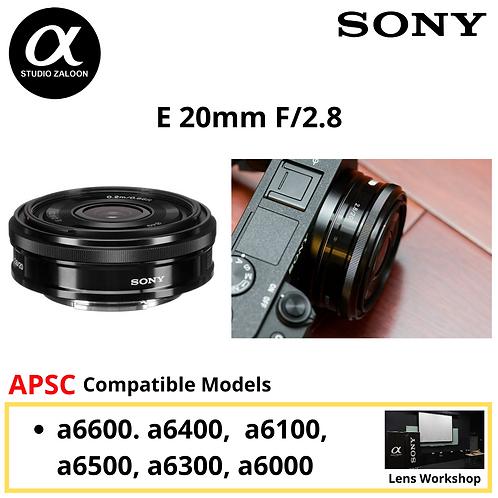 Sony 20mm f/2.8  E-mount Lens SEL20F28