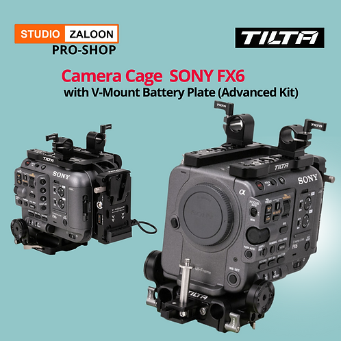 Tilta Camera Cage for Sony FX6 with V-Mount Battery Plate (Advanced Kit)