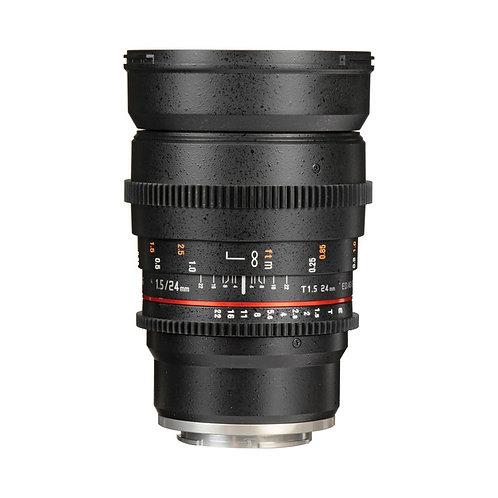 Samyang 24mm T1.5 VDSLRII Cine Lens for Sony E