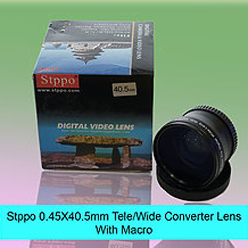 Stppo 0.45x 40.5mm Tele/Wide Conventer Lens With Macro