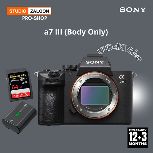 Sony A7M3 Camera (Body Only)With SD64+EXTRA BATTERY +INSTANT CASH BACK