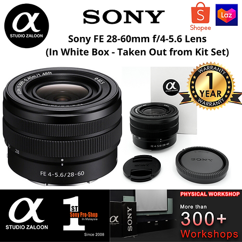 Sony FE 28-60mm f/4-5.6 Lens (In White Box - Taken Out from Kit Set)