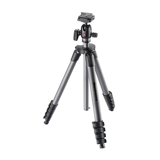 Manfrotto MKCOMPACTADVBH Compact Advanced Aluminum Tripod with Ball Head