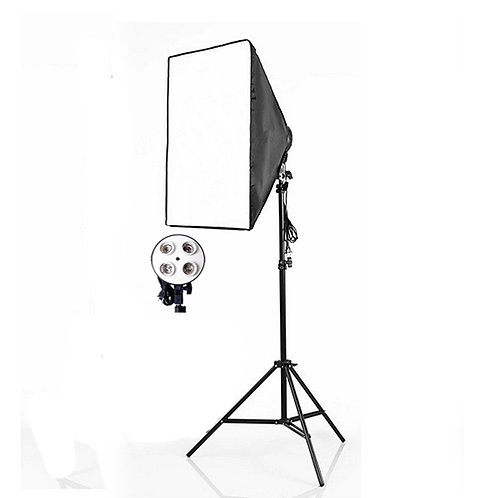 [Pre-Order ]Continuous 4 Socket 50×70 Softbox With Light Stand For Photo Studio