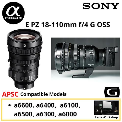 [PRE ORDER 3 WEEKS ]Sony E PZ 18-110mm f/4 G OSS Lens