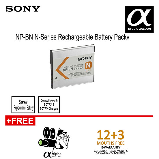 [PRE ORDER 2 WEEKS]Sony NP-BN1 Rechargeable Lithium-ion Battery Pack
