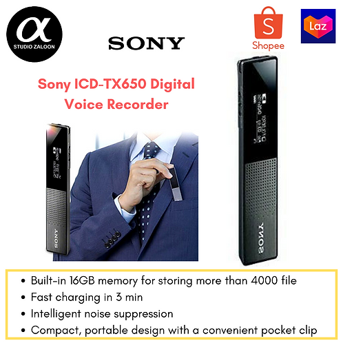 Sony ICD-TX650 Digital Voice Recorder