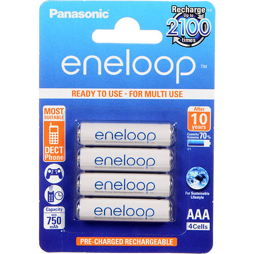 Panasonic Eneloop BK-3MCCE/4BE Rechargeable Battery