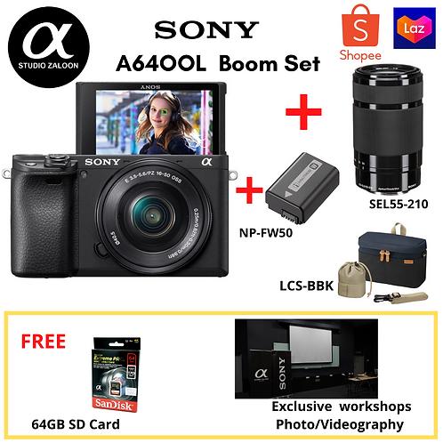 Sony A6400L + 55-210mm f/4.5-6.3 OSS Lens + Extra Battery + LCS-BBK + 64GB SD Ca