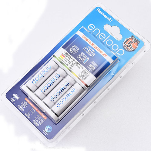 Panasonic eneloop BQ-CC55E Charger with BK-3MCCE Battery