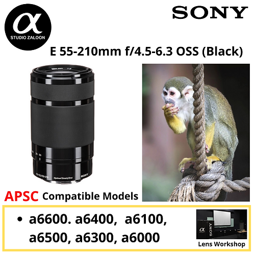 Sony SEL 55-210mm BLK f/4.5-6.3 OSS SEL55210/B