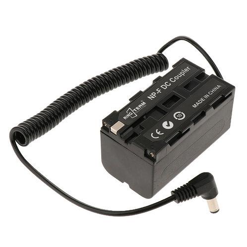 (Pre-Order)NP-F750 F970 F550 Dummy Battery DC Coupler for Camcorder LED Light