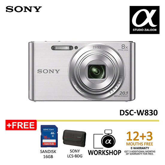 (Pre-order 12 days )Sony DSC-W830 Digital Camera (Silver)