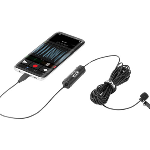 BOYA BY-DM2 USB Type-C omnidirectional lavalier microphone for Android Devices