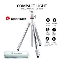 Manfrotto MKCOMPACTLT-WH Compact Light Aluminum Tripod (WHITE)