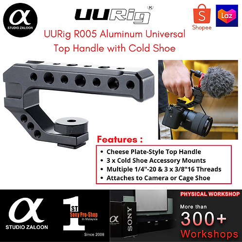 UURig R005 Aluminum Universal Top Handle with Cold Shoe