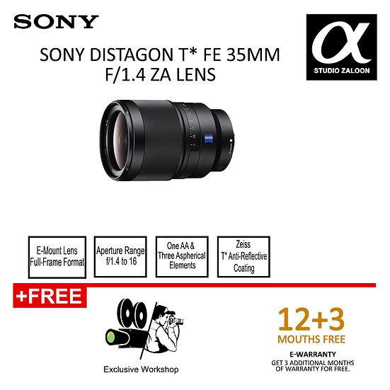 Sony Distagon T* FE 35mm f/1.4 ZA Lens FE35F1.4