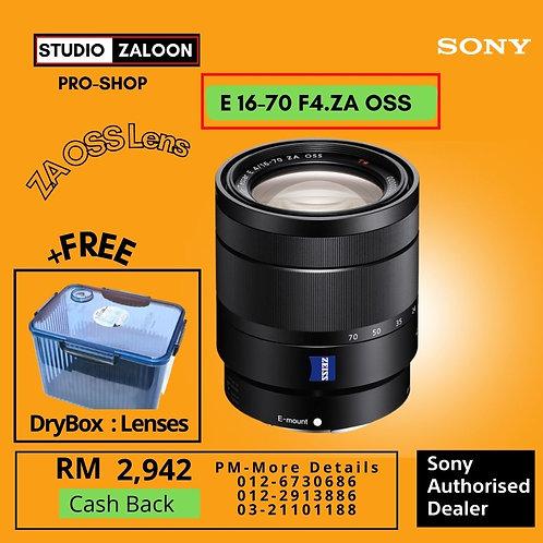 Sony E 16-70mm f/4 ZA OSS Lens SEL1670Z+ CASHBACK+Free DryBOX