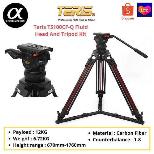 Teris TS100CF-Q Fluid Head And Tripod Kit