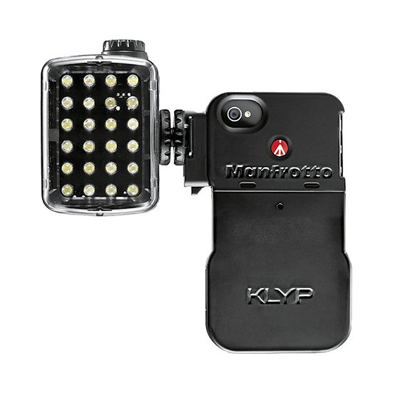 MANFROTTO MKLKLYP0 for iPhone 4/4S + ML240 LED Light
