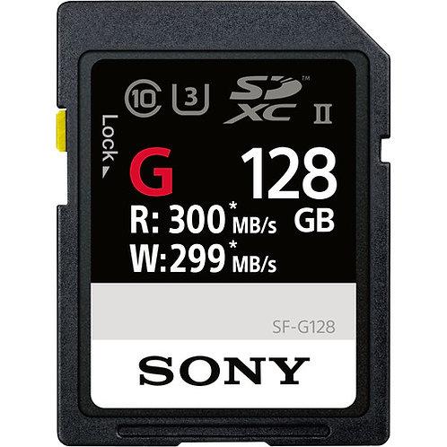 [ PREE ORDER 3 WEEKS ]Sony SF-G128/T1 G Series UHS-II SDXC Memory Card