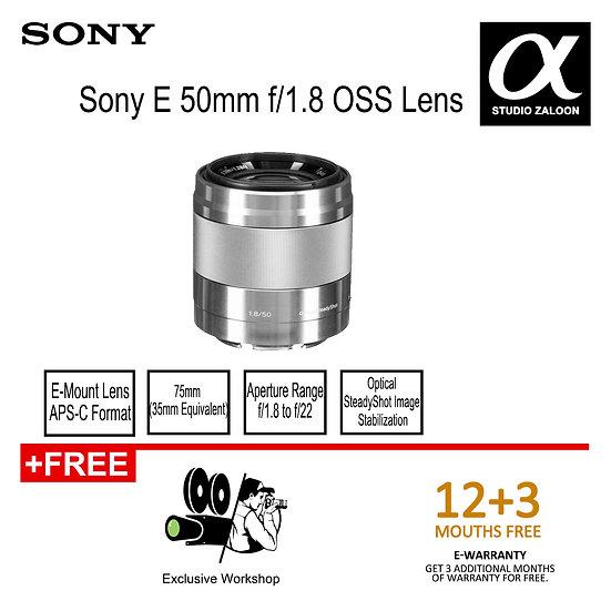 Sony SEL 50mm f/1.8 OSS Lens (Silver) SEL50F18