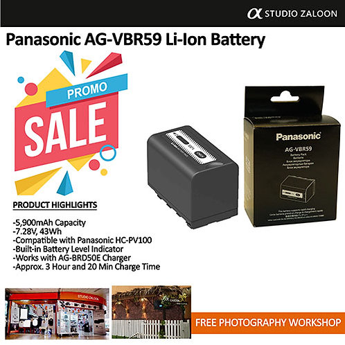 PANASONIC AG-VBR59  Battery Pack 7.28V-5900 Mah Fit AG-UX90