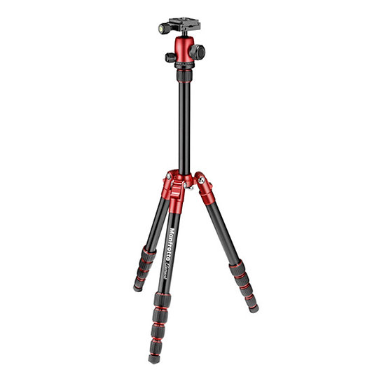 Manfrotto MKELES5RD-BH Element Small Aluminum Traveler Tripod (Red)