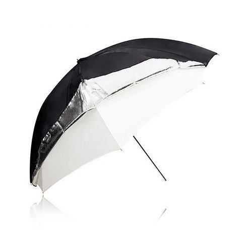 2 IN 1 Black & White 110cm Umbrella