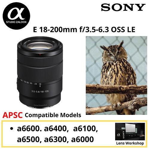 Sony LE 18-200mm f/3.5-6.3  E Lens SEL18200LE