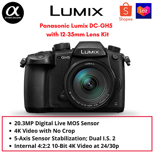 Panasonic Lumix DC-GH5 Mirrorless Micro Four Thirds Digital Camera with 12-35mm