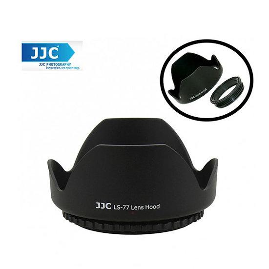 JJC LS-77 (77mm) Universal flower Screw-in Lens Hood (Reverse Mount Possible)