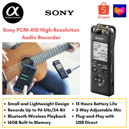 Sony PCM-A10 High-Resolution Audio Recorder