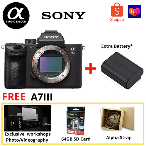 Sony Alpha a7 III  Camera Body Only+Sandisk Extreme Pro SD64