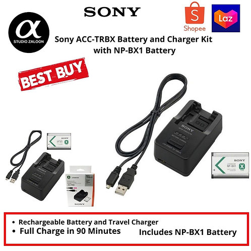 Sony ACC-TRBX NP-BX1 Battery + Charger Kit