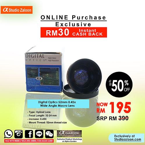 Digital Optics 52mm 0.45x Wide Angle Macro Lens