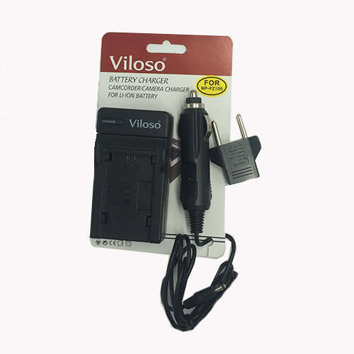 Viloso Camera Battery Charger with Car adaptor for Sony NP-FZ100