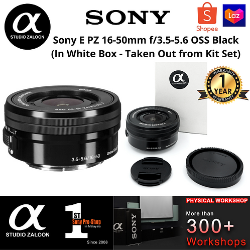 Sony E PZ 16-50mm f/3.5-5.6 OSS Black (In White Box - Taken Out from Kit Set)