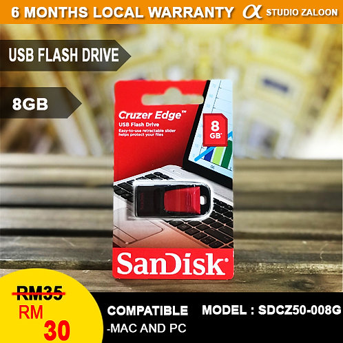 SanDisk 8GB Cruzer Blade USB Flash Drive