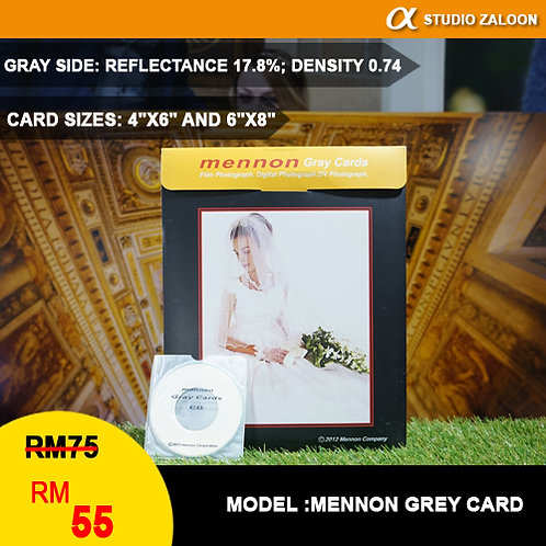 """Mennon Set Of 2 Gray Card's Size 4""""X6"""" And 6""""X8"""", 18% Gray / 92% White"""