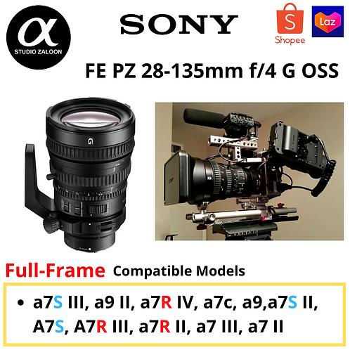 [Pre Order 2 week] Sony FE PZ 28-135mm f/4 G OSS Lens FEP28135G