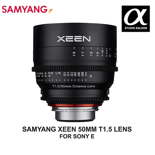 [PRE-ORDER 5 WEEKS] SAMYANG XEEN 50MM T1.5 CINE LENS FOR SONY E