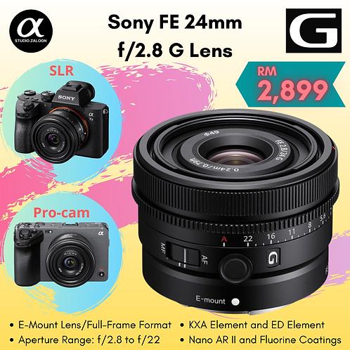 Sony FE 24mm f/2.8 G Lens (12+3 Months E-Warranty) ( Pre-Order )