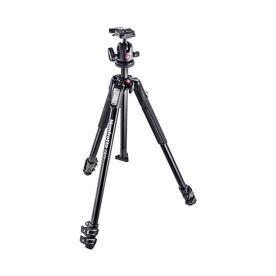 Manfrotto MK190X3-BH Aluminum Tripod with 496RC2 Compact Ball Head